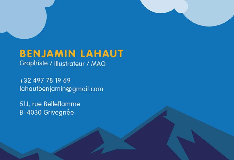 Carte De Visite Benjamin Lahaut
